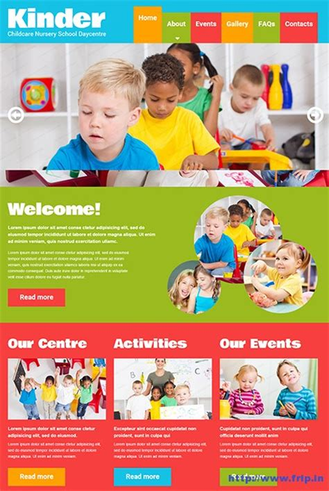 website templates for children s books 25 best kids website templates 2018 frip in
