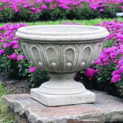 campania international longwood fluted cast stone urn planter planters at hayneedle