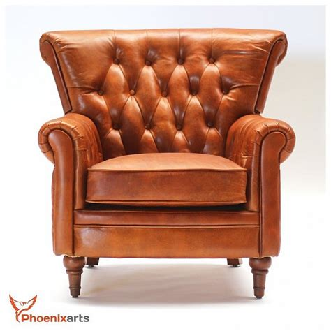 Ebay Chesterfield Armchair by Vintage Real Leather Chesterfield Armchair Wing Chair Club