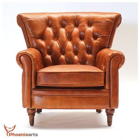 ebay chesterfield armchair vintage real leather chesterfield armchair wing chair club 549 ebay