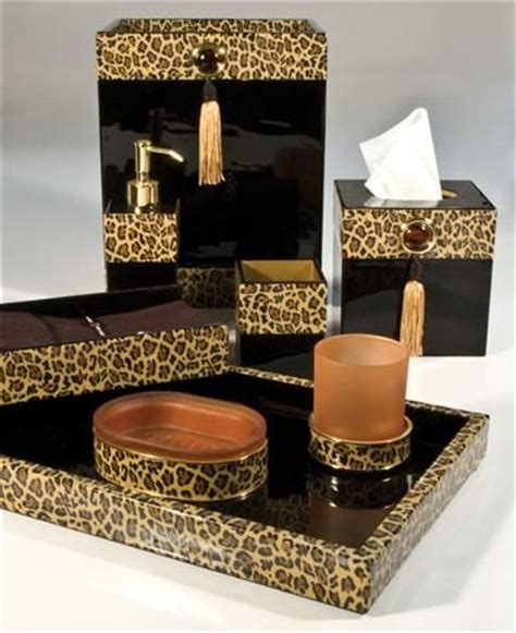 leopard bathroom accessories i decor