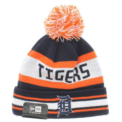 detroit tigers colors detroit tigers team colors the jake 3 beanie with pom new