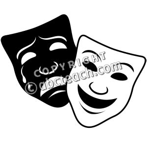 comedy drama masks clipart