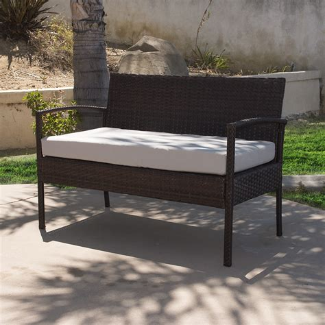 durable 4pc patio furniture set cushioned outdoor wicker