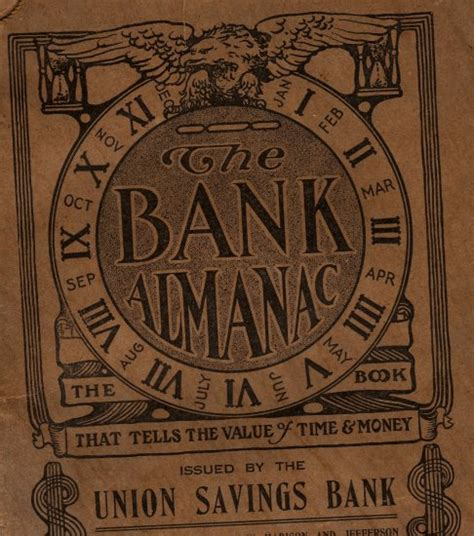 union investment bank union savings bank giveaway almanac toledo ohio c 1912