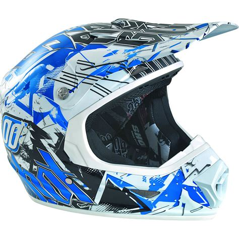 blue motocross helmet shot furious impact motocross helmet quad off road race