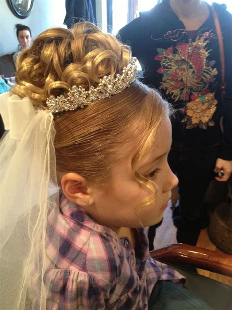 girls hairstyles for first holy communion communion my work communion pinterest beautiful