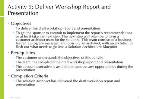 workshop report template solution architecture concept workshop