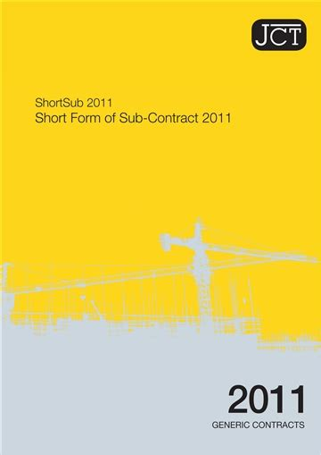 jct design and build contract db 2011 edition minor works building contract