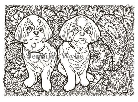 coloring pages of shih tzu dogs shih tzu coloring page colouring page coloring