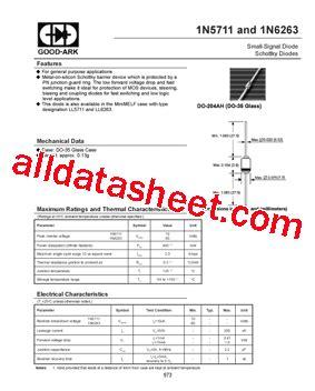 schottky diode pdf datasheet 1n5711 datasheet pdf ark electronics
