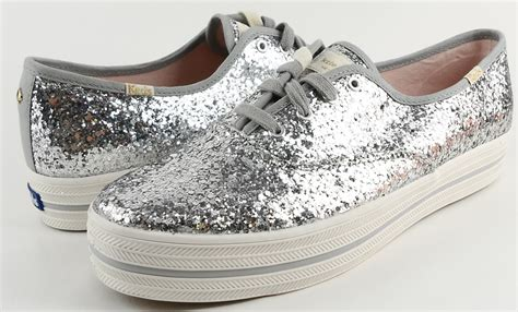 Sepatu Shoes Branded Asli Authentic Original Keds Kate Spade Slipon keds for kate spade new york kick silver glitter designer sneakers 10 5