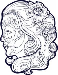 sugar skull coloring pages sugar skull advanced coloring 9 kidspressmagazine