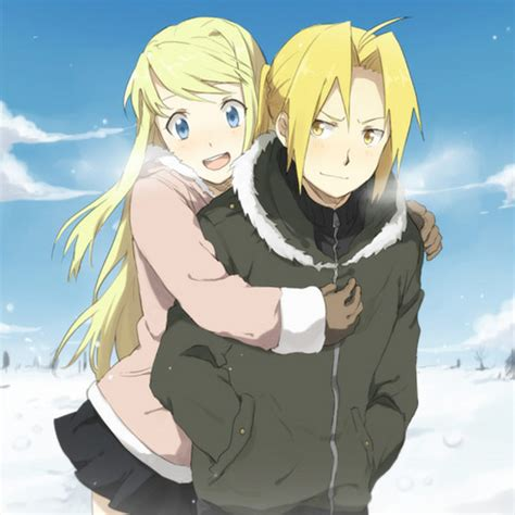 fullmetal alchemist brotherhood edward and winry kiss edward elric and winry rockbell images edward winry