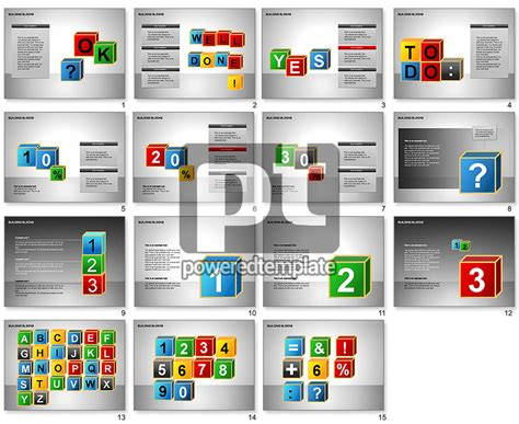 Building Blocks Collection For Powerpoint Presentations Download Now 00176 Poweredtemplate Com Building Blocks Template