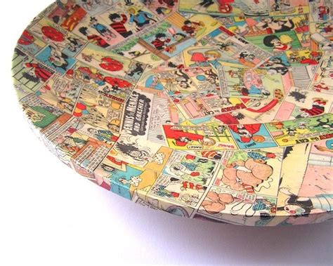 Decoupage Comic - comic decoupage plate crafts