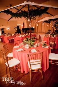 coral colored table ls coral weddings