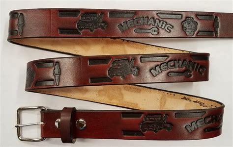 Handmade Belts Usa - handmade belts usa mechanic embossed leather belt