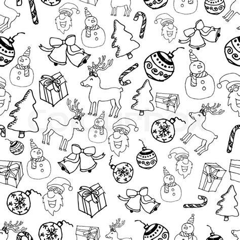 christmas pattern white image of seamless christmas pattern vector illustration