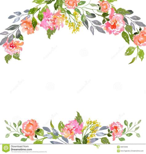 watercolor floral card template floral cards floral