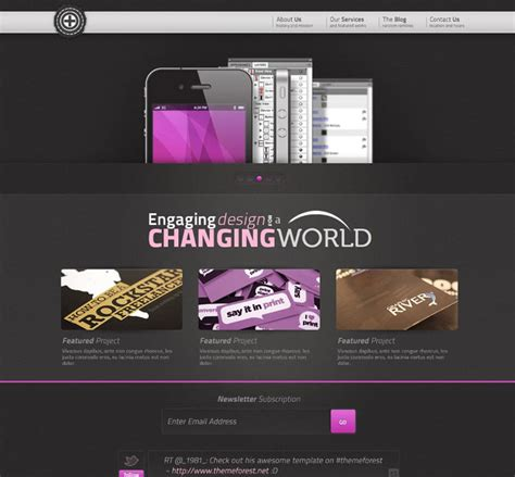 Latest Free Web Page Templates Psd 187 Css Author Creative Portfolio Website Templates