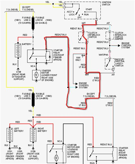 ford truck headlight switch wiring schematic for 1991