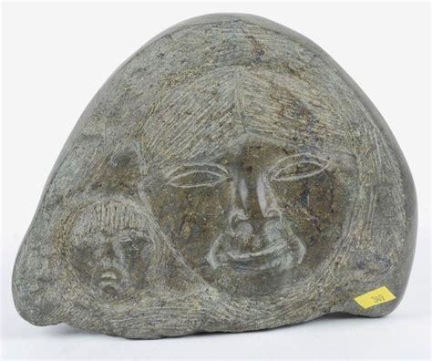 Soapstone Facts Vintage Signed Candian Inuit Eskimo Carved Soapstone