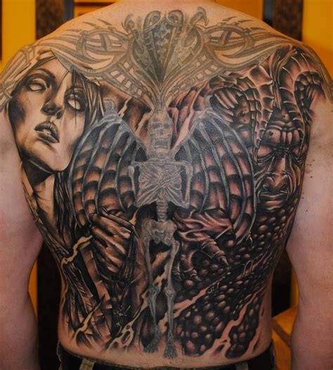 angel and demon tattoo design tattoos designs ideas and meaning tattoos for you