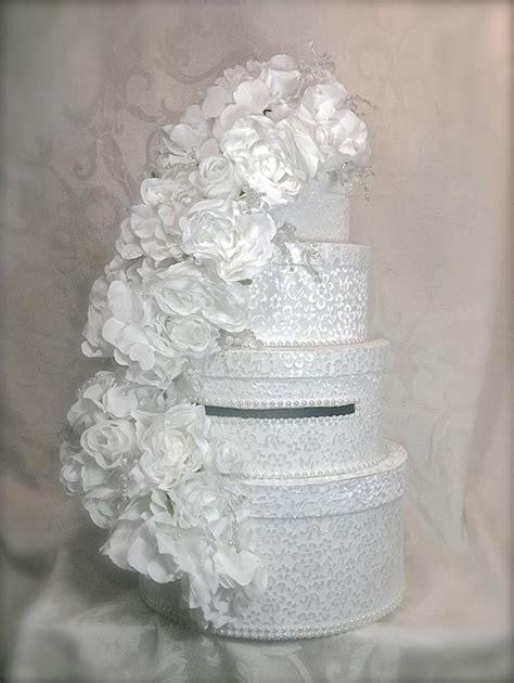 Handmade Wedding Card Box - wedding card box lace and pearls wedding card box