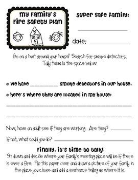 safety family s safety plan homework activity