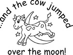 Cow Jumping Coloring Page Coloring Pages