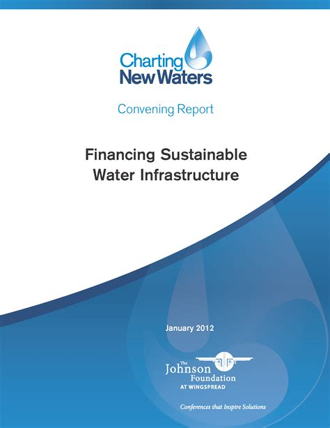 Cover Page For Annual Report Template johnson fdn waterinfrastructure cover png 1700 215 2200