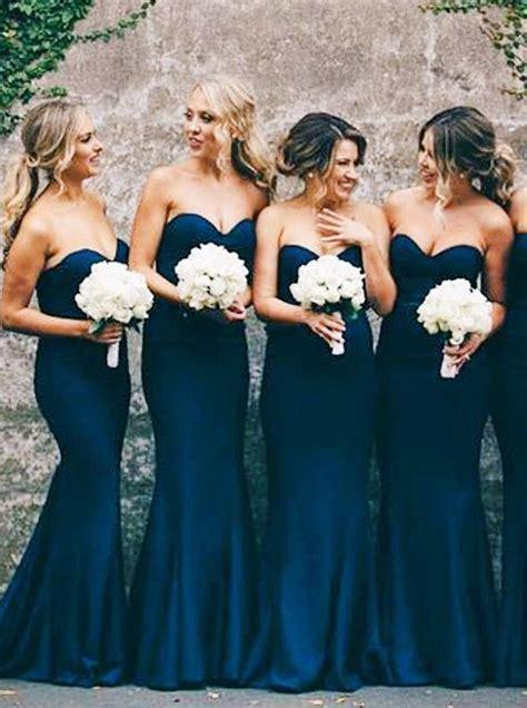 Navy Bridesmaid Dress by Best 25 Navy Blue Bridesmaid Dresses Ideas On