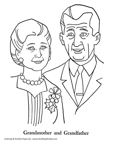 grandparents day coloring pages grandmother and