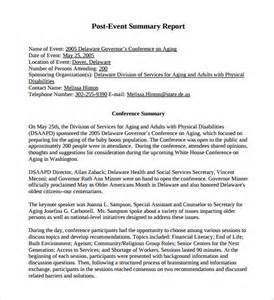 Post Event Report Template summary report template 8 free samples examples format
