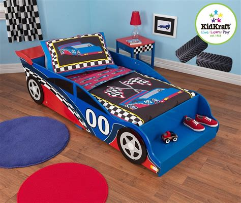 race car bedroom set race car toddler bed kidsdimension