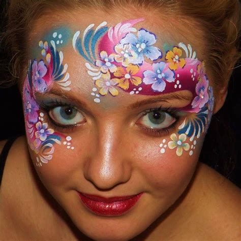 flower makeup painting 25 best ideas about painting flowers on