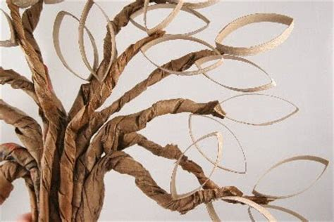 How To Make Trees Out Of Paper - tutorials paper roll twisted oak tree