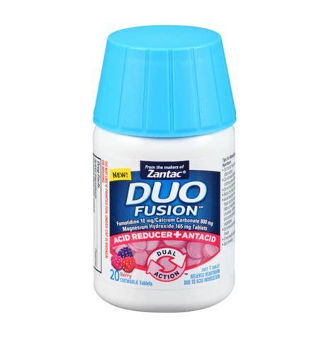 antacid for dogs zantac duo fusion acid reducer antacid chewable tablets berry 20 ea pharmapacks