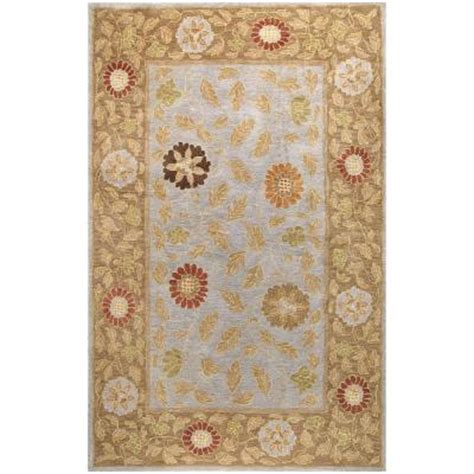 the wilshire collection rugs bashian wilshire collection floral leaf light blue 8 ft 6 in x 11 ft 6 in area rug r128 lbl