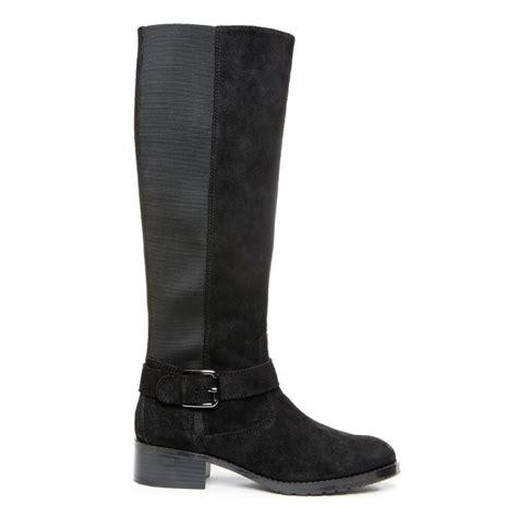 donald pliner boots donald j pliner suede boot in black lyst