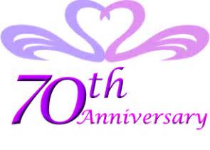 Text Flower Symbols - 70th wedding anniversary gift ideas perfect 70th