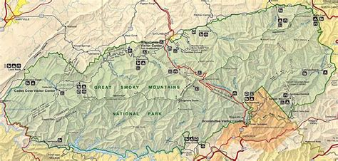 great smoky mountains national park map great smoky mountains national park great smoky mountains national park map