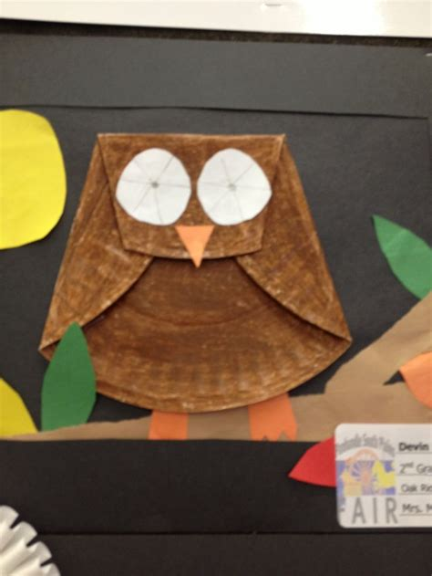 Paper Plate Owl Craft - paper plate owl fall preschool crafts