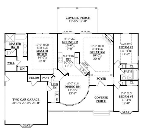 1800 Square Foot Floor Plans by Country Style House Plan 3 Beds 2 Baths 1800 Sq Ft Plan