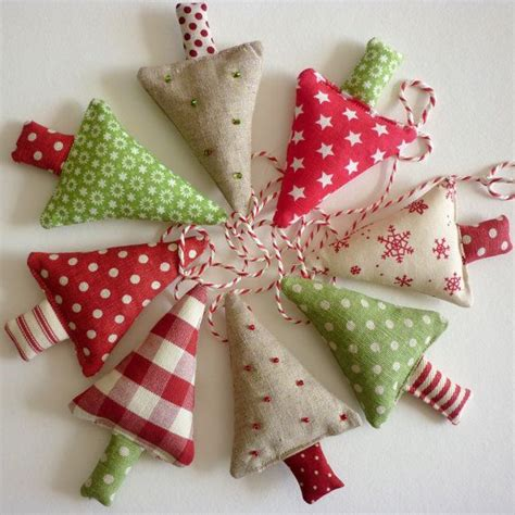 fabric christmas trees garland christmas pinterest