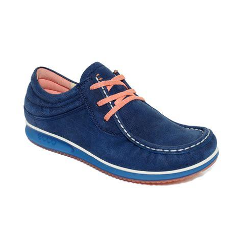ecco flat shoes ecco mind flats in blue black lyst