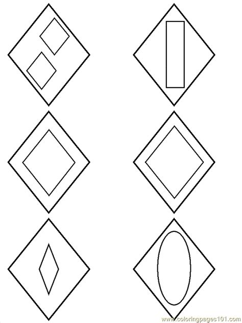 diamond coloring pages preschool diamond shapes preschool coloring home