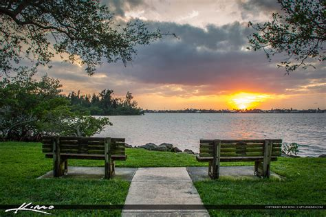 a view from the bench vero beach bench sunset view from veterans park