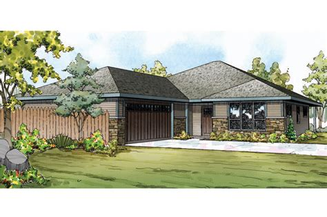 prairie style home plans prairie style house plans oakdale 30 881 associated designs